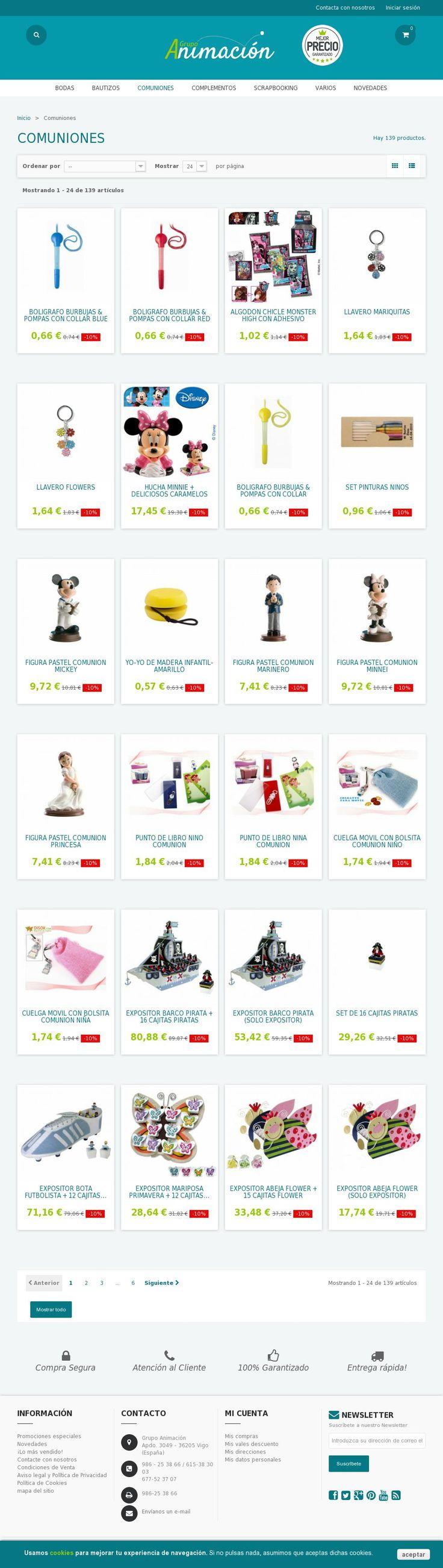 Compras online de regalos para Comuniones, detalles y obsequios para invitados. Envios a toda España.