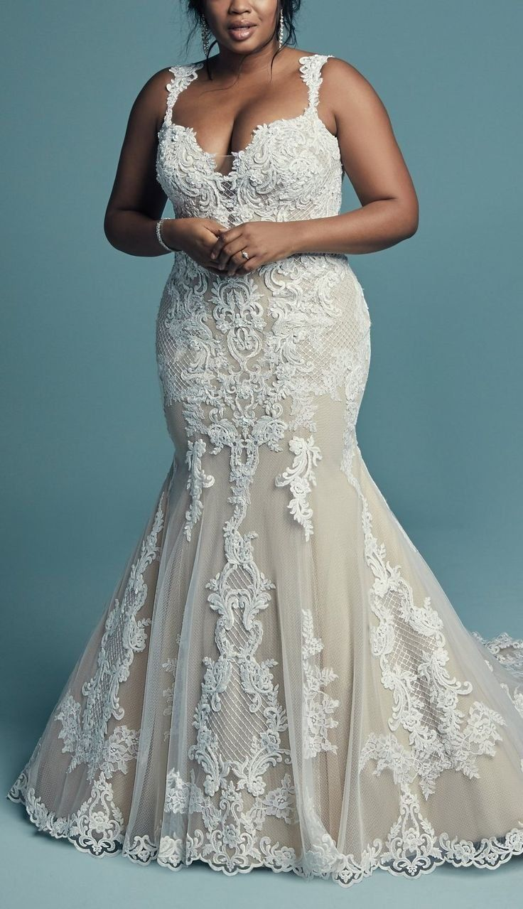 Abbie Lynette By Maggie Sottero Wedding Dresses And Accessories Plus Size Wedding Gowns Fit And Flare Wedding Dress Fitted Wedding Dress [ 1279 x 736 Pixel ]