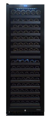 Vinotemp 142-Bottle Dual-Zone Touch Screen Wine Cooler, Left Hinge by Vinotemp. $1959.00. From the Manufacturer                Organize and store your wine collection in this attractive 142 Bottle Wine Cooler by Vinotemp. The sleek and frameless VT-140 TS enables you to store your red and white wines separately at their optimal temperatures. Featuring seamless, all-glass technology, this cooler has room to store up to 70 bottles in the top zone and 72 bottles in t...