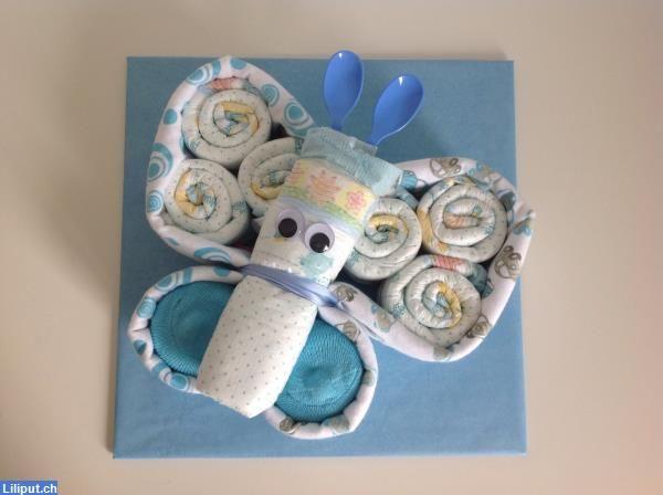 windelschmetterling von sara 39 s geschenke windeltorte windelgeschenke baby pinterest. Black Bedroom Furniture Sets. Home Design Ideas