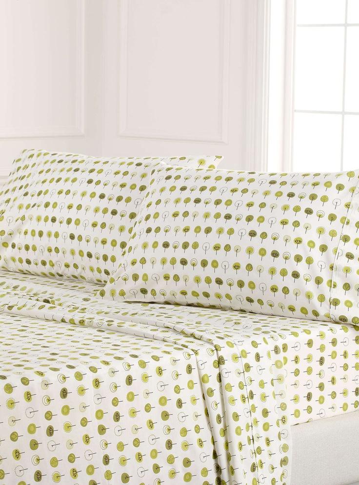 Geometric tree percale plus sheet200 thread count - Sheets & Pillowcases   Simons $34