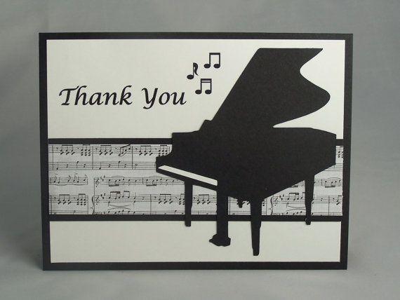Handmade Music Teacher Appreciation Card, Teacher Thank ...