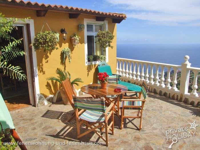#Ferienwohnung mit Terrasse und fantastischen #Meerblick in La Guancha im Norden von #Teneriffa
