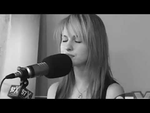 Paramore - Decode (Acoustic) This girl has one of the best voices of our generation but still so underrated.