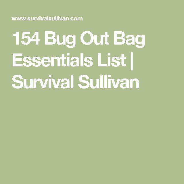 154 Bug Out Bag Essentials List | Survival Sullivan
