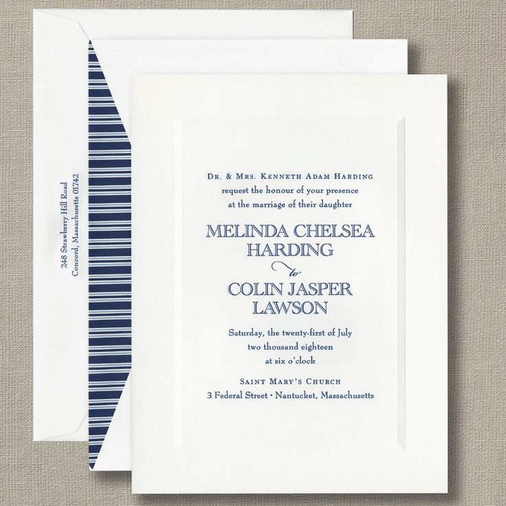 Hardings nyc wedding invitations