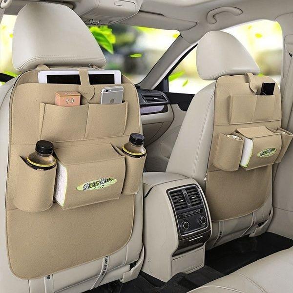 Car Back Seat Organizer Holder Car Felt Covers Multifunction