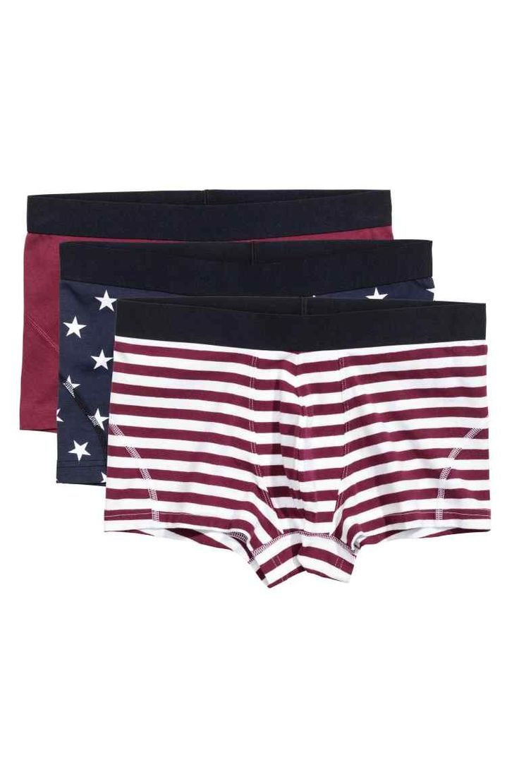 3-pack boxer shorts - Burgundy/Star - Men | H&M GB 1