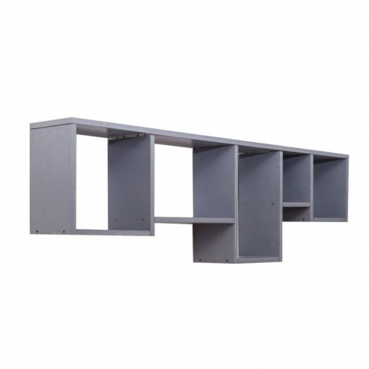 Modern Home Shelving Unit Display Storage Wall Mounted Grey 5 Shelves Storage #ModernHomeShelvingUnit #Modern