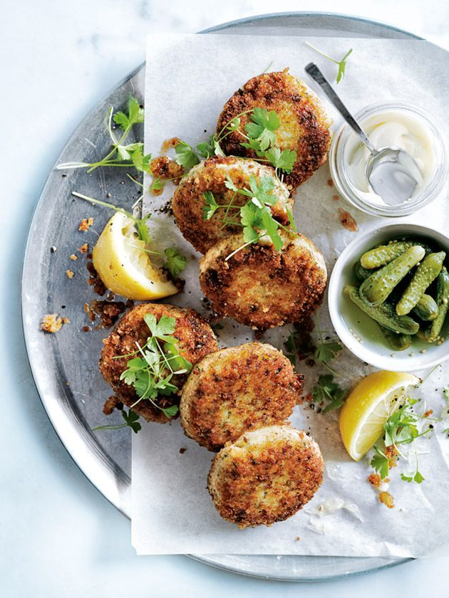 dill and butter bean fishcakes from donna hay