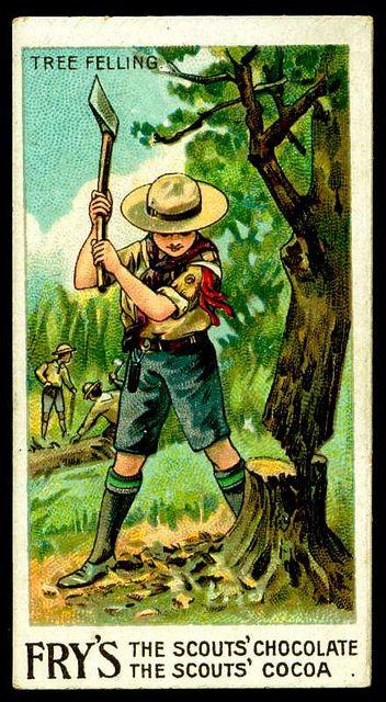 Tradecard - Boy Scouts ~ Tree Felling by cigcardpix, via Flickr