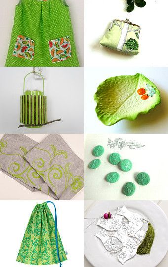 Spring greens by Andrea on Etsy