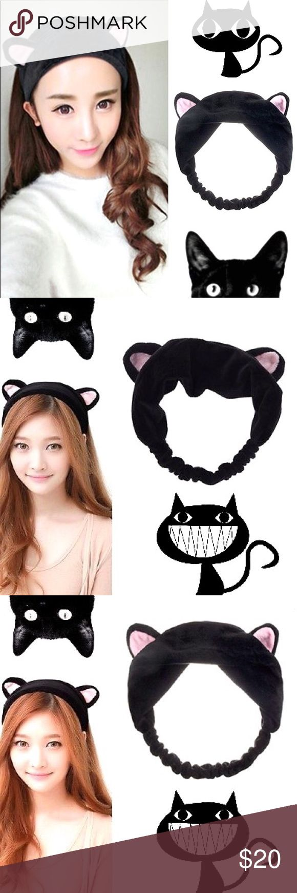 Kawaii Harajuku Anime Manga Kitty Ear Halloween Specification:  100% Brand New!  A  headband with lovely cat ears.  Would make the perfect accessory for anyone who loves cute things, imported items from Japan, or who loves cats!  Style: Lovely/Beautiful  Pattern: Cat Ears  Material: Cloth  Size:approx 14cm/5.5'' x 14cm/5.5''  An excellent cute headband for you to wear at home at a party, a local festival, or even as a cosplay accessory!  It can also be worn when you take a shower, are…