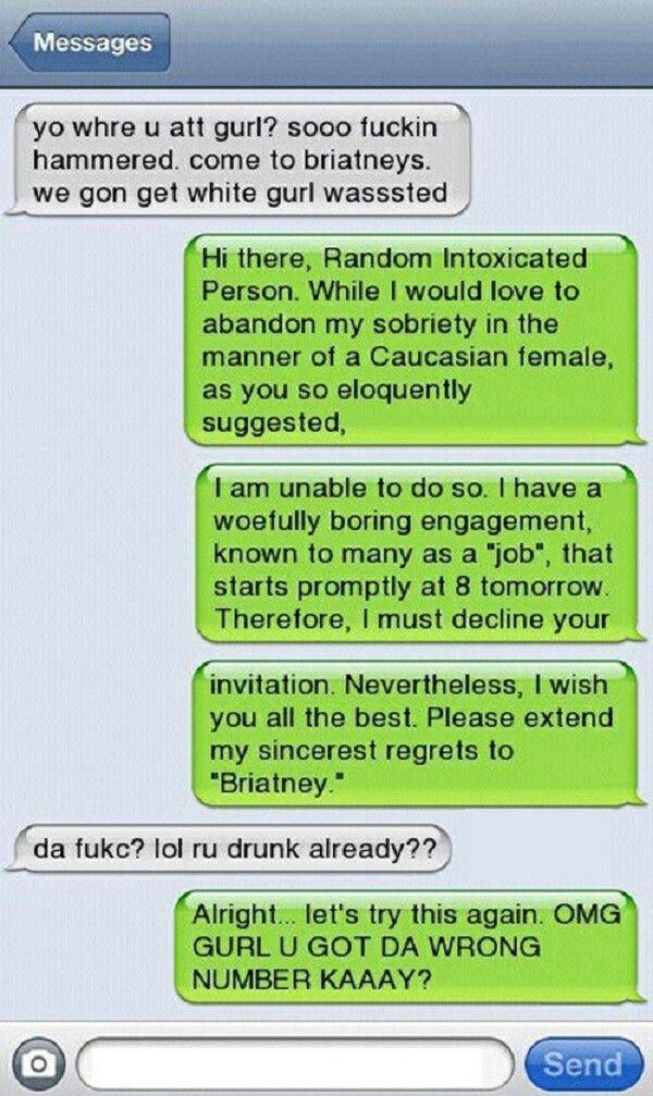 Hilarious text conversations