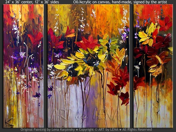 """Hanging Gardens"" - Original Flower Paintings by Lena Karpinsky, http://www.artbylena.com/original-painting/20876/hanging-gardens.html"