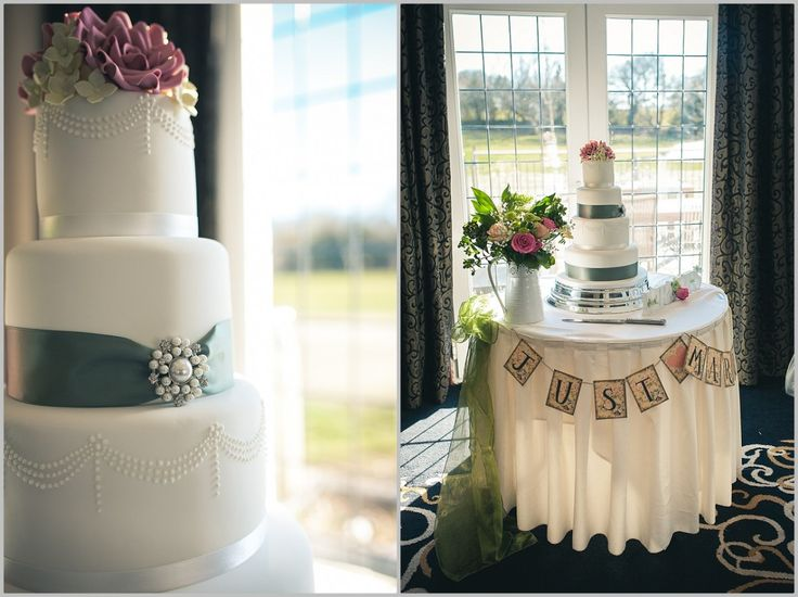 One of my favourite wedding cakes of 2014, set-up at Bryn Meadows for the lovely Ruth and Tim. Photo credit: Simon Gough Photography
