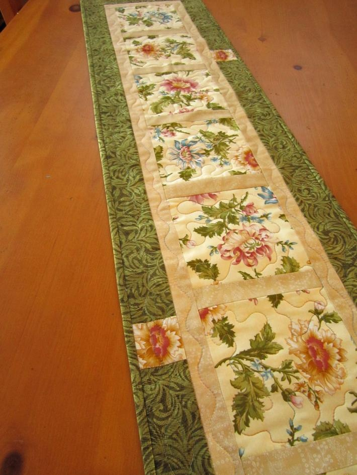 Floral Quilted Table Runner on Handmade Artists Shop