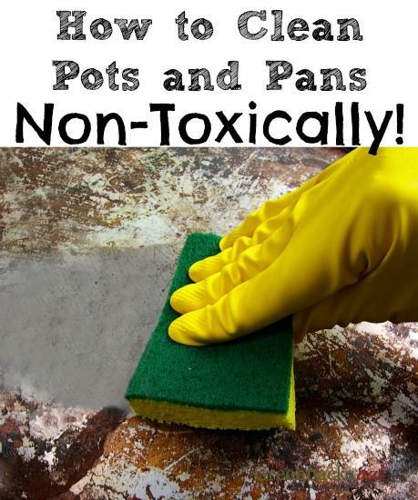Foolproof method to clean burnt pots and pans with non toxic cleaners (video)