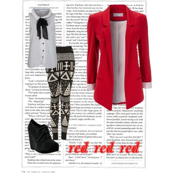 """""""Red Blazer Outfit"""""""