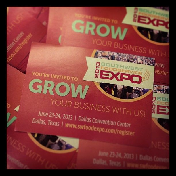 Who's going to the Southwest Foodservice Expo, June 23-24 at #dallas Convention Center? We'll be there at booth #1534. Stop by and say hi!