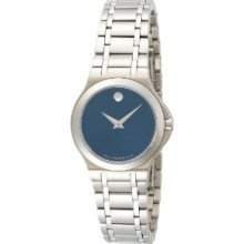 Ladies blue dial Movado Watch.  Classic.