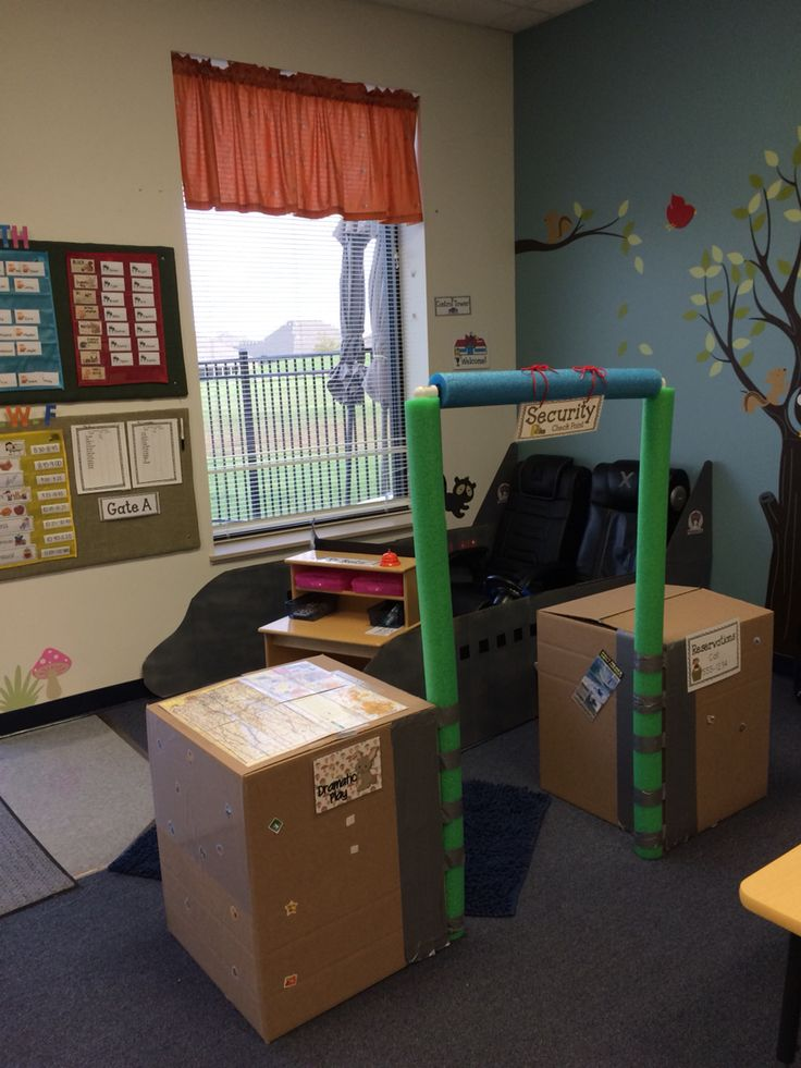 Transportation unit - airport for dramatic play