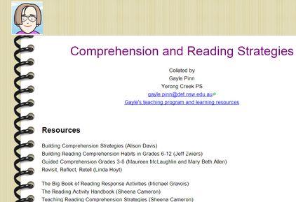 Comprehension Resources