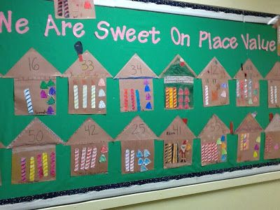 We Are Sweet on Place Value Bulletin Board from Compassionate Teacher