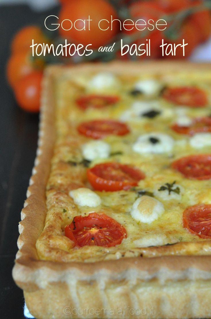 Goat cheese, tomatoes and basil tart | Burro e Malla