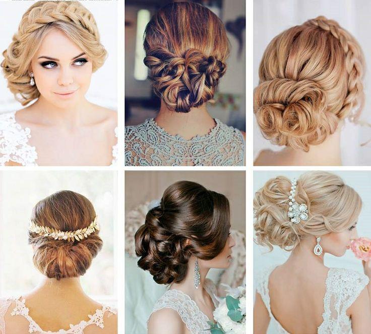 Bridal Updos  | Photo credit: El Stile Russia, Marthe Borge blog, Eleeza Hair & Makeup, Erica Elizabeth Designs, El Stile Russia |