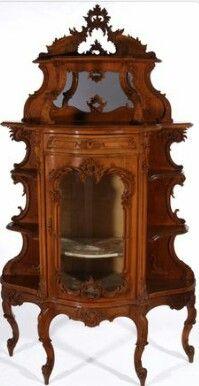 French rococo style vitrine, 19th century