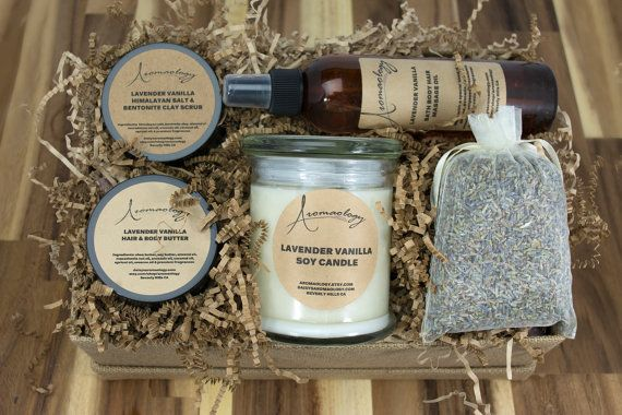 SPA Gift Basket  Spa Gift Set  Peppermint Bath and Body Gift