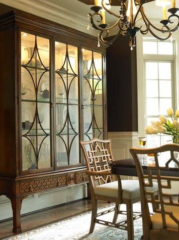 Glass Cabinet With Fretwork Hickory White Www