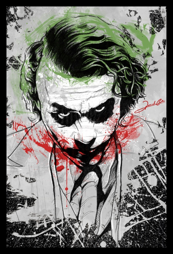 Joker Heath Ledger By Renato Cunha