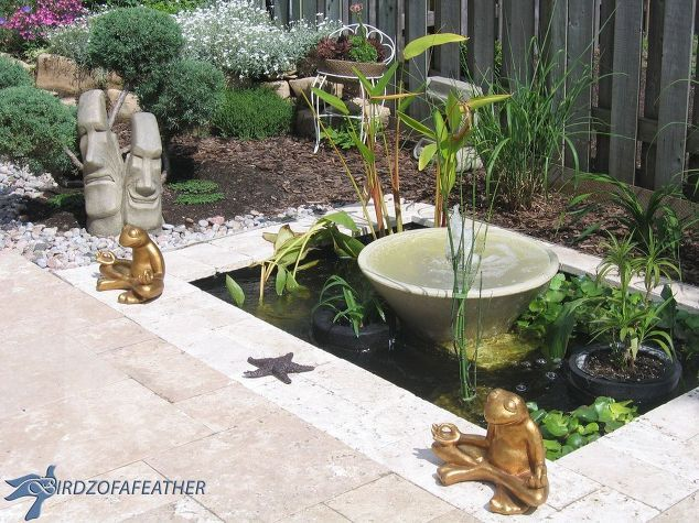 Create a Small Water Feature and Add Curb Appeal to Your ... on Small Backyard Water Features id=84258