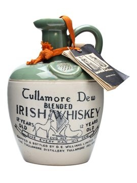 A ceramic crock of Tullamore Dew's 12 year old whisky from the 1960s. £225.00