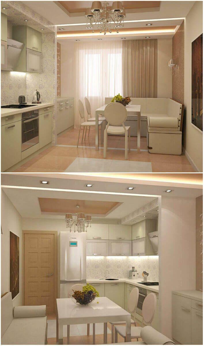 Дизайн интерьера кухни 14 кв. м: фото интерьеров с диваном и без