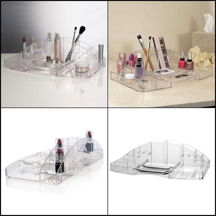 Clear Plastic Large Capacity Cosmetic Storage and Makeup Organizer Versatile New #STORi