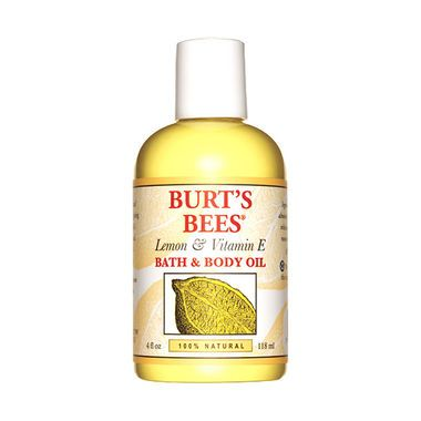 $8 BUY NOW Burt's Bees will have your skin feeling smoother than a baby's bottom with its baby oil made exclusively for adults. Enhanced with lemon oil, vitamin E, and almond oil, two capfuls mixed with warm water make for a soothing bath that leaves skin supple.