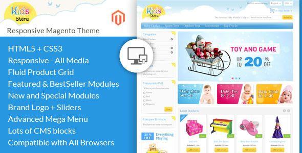 Kids Store – Magento Responsive Template (Magento)