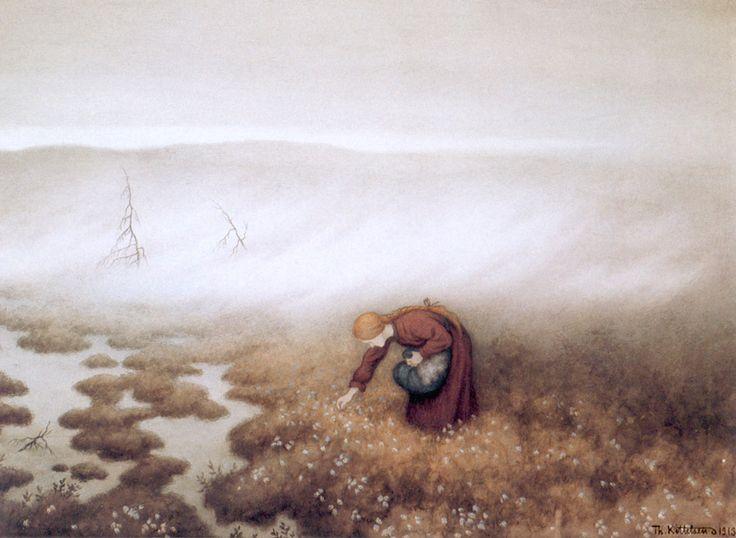 """Theodor Kittelsen """"Prinsessen som sanker myrull"""" - P_10.09.2012 - http://www.kittelsen.ru/archive/prinsessen_som_sanker_myrull.jpg"""