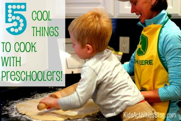 Cooking IS Science! Not only does cooking teach us about cause and effect, chemical reactions and following directions, but cooking also helps strengthen fine and gross motor skills, creativity and satisfies our tummy! Check out these 5 simple yet delicious recipes for cooking with preschoolers!