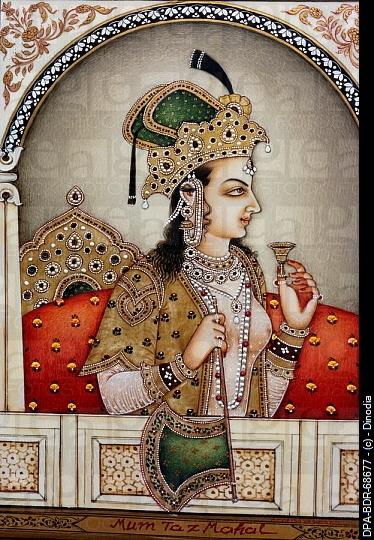 Mughal princess Mumtaz Mahal miniature painting