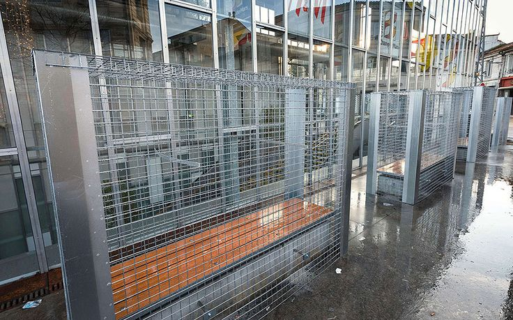 Wasting money on metal cages - instead of actually doing something fruitful and helpful for the homeless.............French mayor accused of a shameful lack of Christmas spirit after placing   metal cages over public benches to banish homeless from city centre