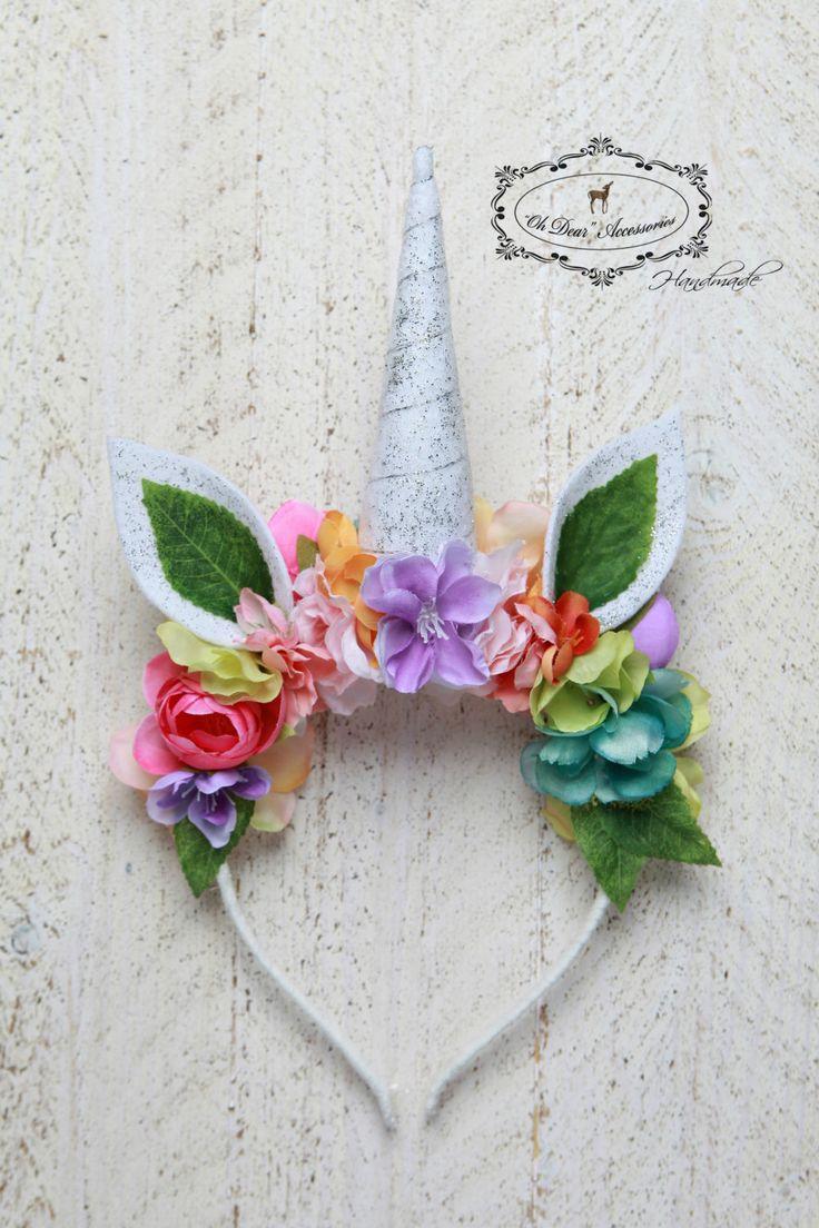 unicorn headband, rainbow unicorn, Halloween, photo session,photo prop,magic,fantasy by OhDearAccessories on Etsy