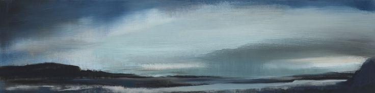 Stroude, Emma - 'Peripheral Theatre' Oil 20cm x 80cm 2016