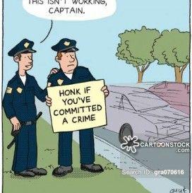 funny cop cartoons crime.