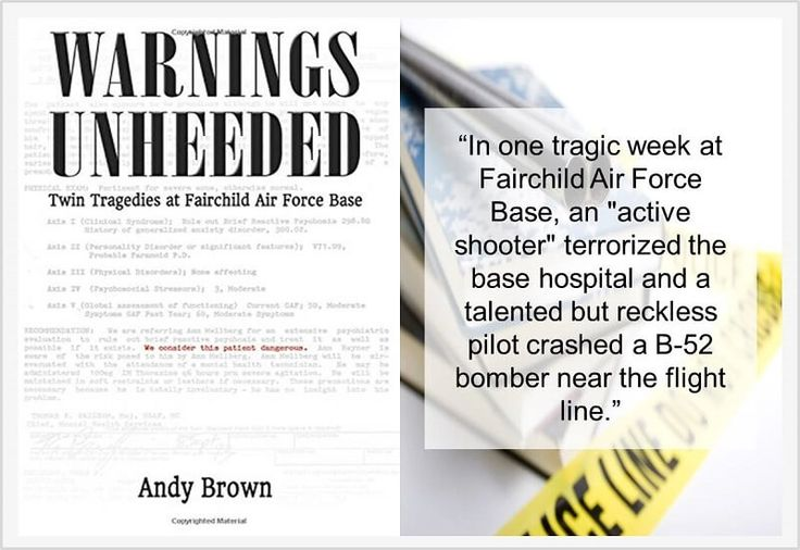 In the last week of June 1994, Fairchild Air Force base in Washington, DC found itself at the centre of two devastating tragedies which took the lives of nine individuals and injured twenty-two. 'Warnings Unheeded' is the insightful, honest and admirable book written by Andy Brown, the man who stopped gunman Dean Mellberg in the height of his shooting spree.