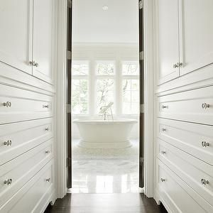 Walk through Closet - Transitional - closet - Kristen Panitch ...