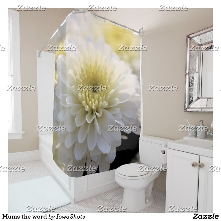 Mums The Word Shower Curtain